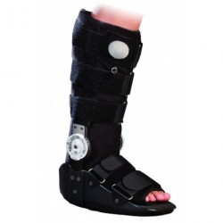 AT53003 Orteza sztywna z tworzywa sztucznego na goleń i stopę (długa)