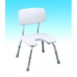 AT51016 (CA352L) Krzesło pod prysznic w wyciętym siedziskiem