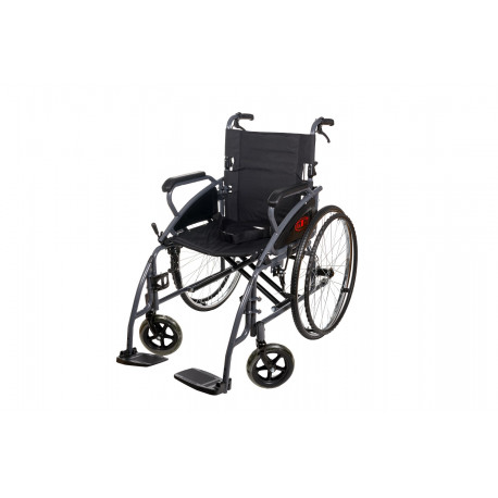 Wózek inwalidzki stalowy na szybkozłączkach